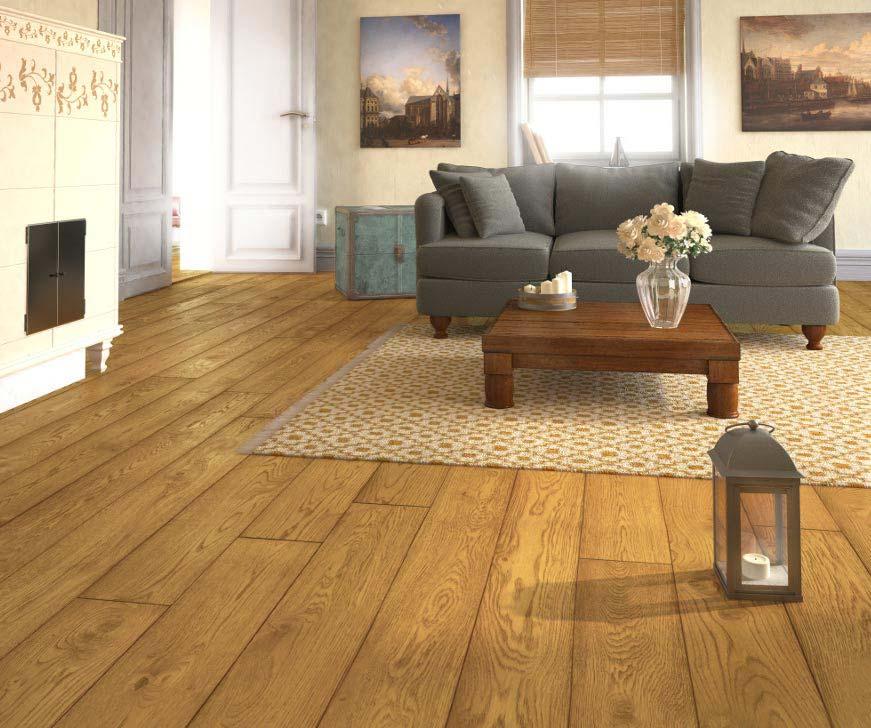 Úprava povrchu dubové podlahy - 4x fáze